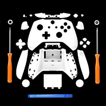 Best SN-RIGGOR Replacement Housing Full Shell Set Full Buttons Set Faceplates ABXY Buttons RB LB Bumpers for Xbox One S Slim Controller (3.5 mm Headphone Jack) S Controller Repair Parts (White) Review