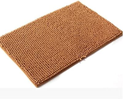 zhang Anti-Slip Absorbent Bath Mats,Machine-Washable Microfiber Soft Bath Rugs for Shower Laundury Room Doorway-Champagne 60x160cm(24x63inch)
