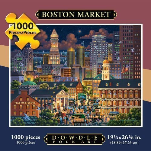 marcas de diseñadores baratos Jigsaw Jigsaw Jigsaw Puzzle - Boston Market 1000 Pc By Dowdle Folk Art by Dowdle Folk Art  popular
