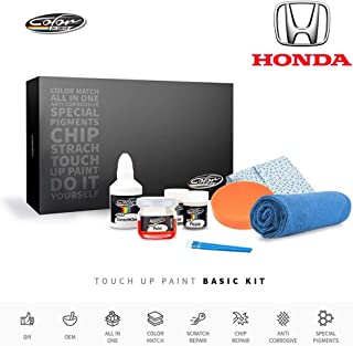 Color N Drive | Honda B568M - Azure Blue Pearl Metallic Touch Up Paint | Compatible with All Honda Models | Paint Scratch, Chips Repair | OEM Quality | Exact Match | Basic