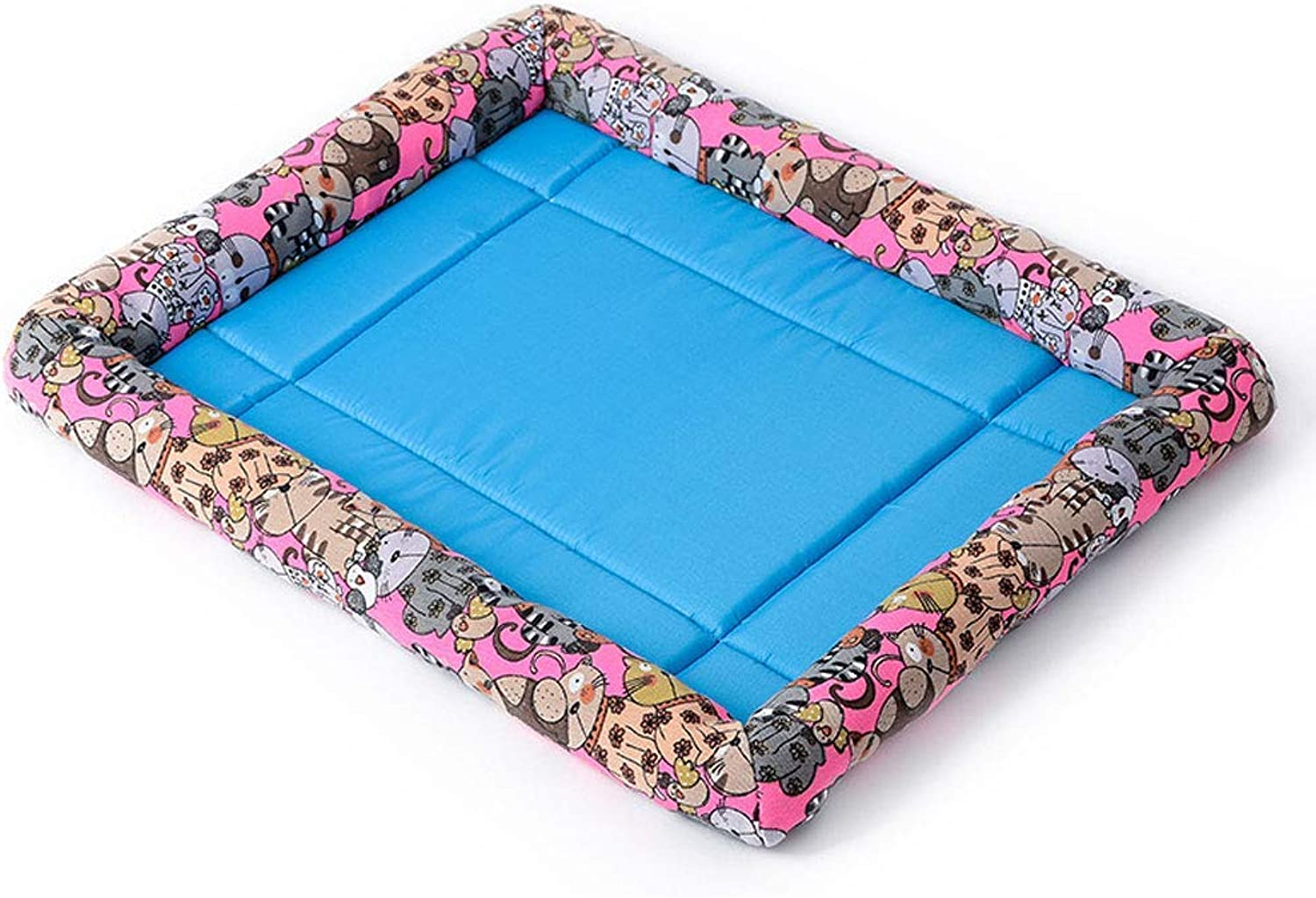 Kenkel Pads Dog Beds Pet Cooling Mat, Summer Dog Cat Cooling Pad Cat Bed Pet Supply Cover (Colore: B, Dimensione: L)