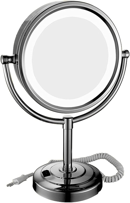 3X led Makeup Mirror Desktop redate Creativity Girl Dorm Room Bathroom Dressing Room Beauty Vanity Mirror. Gift, 8 inch