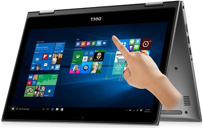 Dell i5368-10025GRY 13.3in FHD Touch 2-in-1 Laptop (Intel Core i7-6500U 2.5GHz Processor, 8 GB RAM, 256 GB SDD) Windows 10 Gray (Renewed)