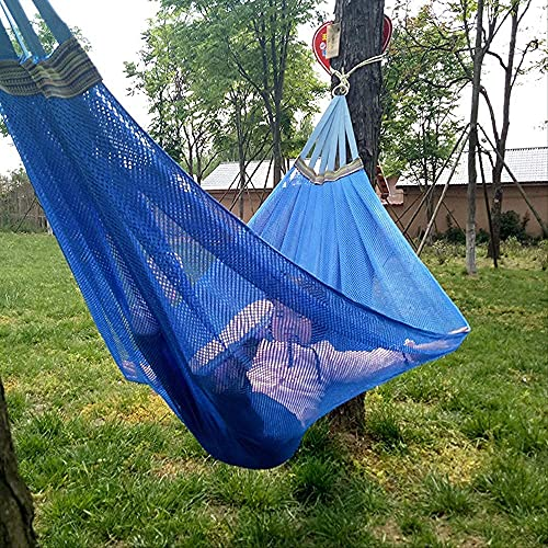KTDT Hamaca s Sillón Columpio Cinta de Hamaca Hamaca de Seda de Hielo Camping 200 * 130Cm Silla Colgante de Verano Columpio Transpirable para Exteriores Fácil de almacenar