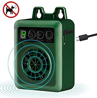 Zigzagmars Rechargeable Barking Control Device, 50FT Range Anti Barking Device, Mini Outdoor Bark Control Devices Sonic Dog Repellent