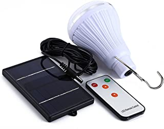 Solar Light Bulb, LightMe Dimmable Multi-Functional Brightness 20 LED Solar Powered Lamp Solar Lights with Remote Controller for Outdoor Hiking Fishing Camping Tent