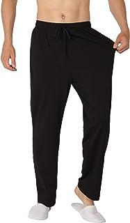 Men's Pajama Pant Cotton Comfy Soft Lounge Knit Sleep Pants Black,Navy,Gray,Red,Blue M-XXXL