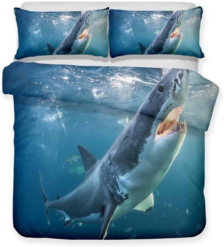 メーカー公式ショップ LanS Sawtooth Great White Shark 公式ショップ Set Co Cover Bedding Duvet