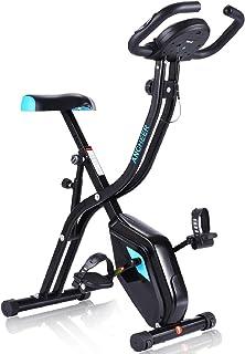 comprar comparacion Profun Bicicleta Estática Plegable App 10 Niveles de Resistencia Magnética, Bicicleta de Ejercicios con Tableta/Soporte pa...