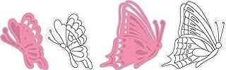 Marianne Design COL1319 Papillons de Tiny à Collectionner, Métal, Rose, 4,4 x 5,3 x 0,4 cm