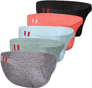 ElsaYX Men's Fashion Cotton Bikinis Briefs Underwear