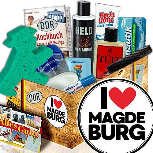 Magdeburg Geschenk Paar / DDR Pflege Box Mann / I love Magdeburg