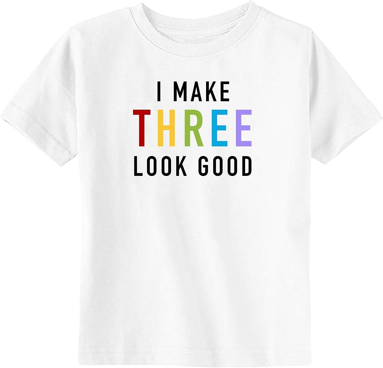Little Spunkies I Make Three Look Good 3rd Birthday Toddler T-Shirt
