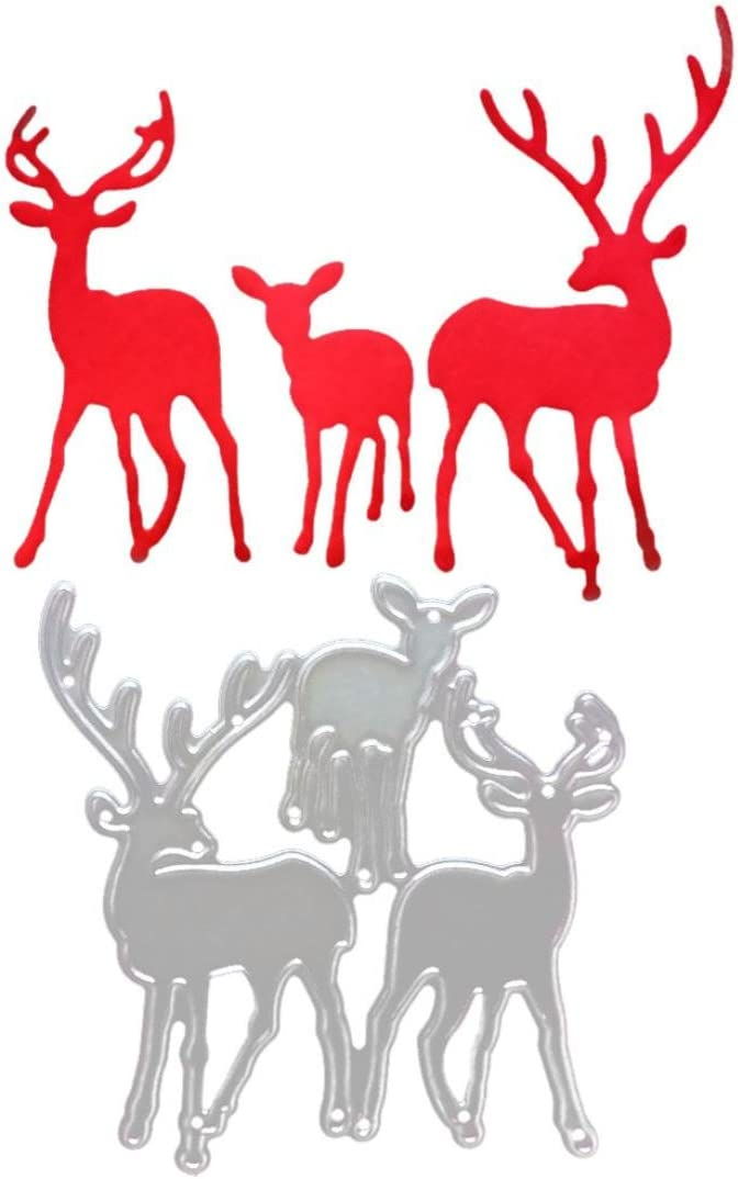Christmas Metal Cutting Dies Deer for Cut Super special price Making Card Staron Limited time free shipping Di