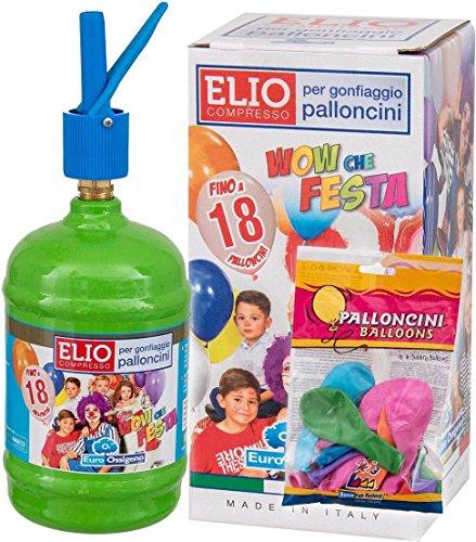 Morlando Helium Ballongas Set Heliumgas für bis zu 18 Ballons + 18 Luftballons Ø 23cm + Polyband Geburtstag Hochzeit Party