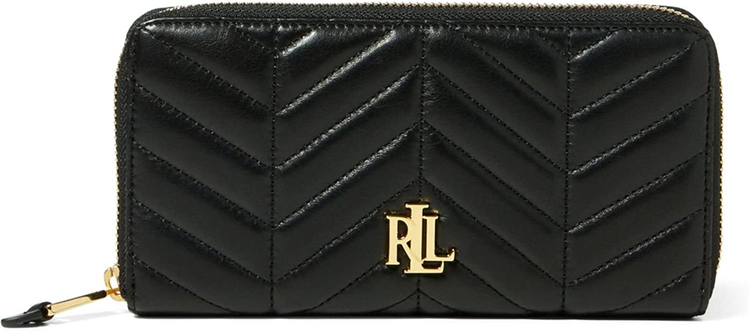 LAUREN Ralph Lauren Women`s Quilted Carrington Zip Wallet