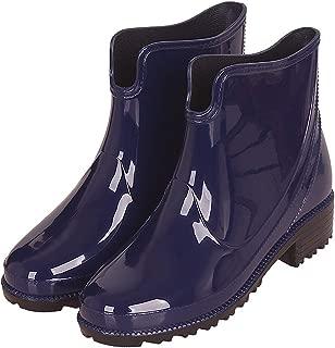 CCZZ Womens Rain Boots Anti Slip Short Rain Shoes Waterproof Rubber Work Garden Ankle Booties Black Red Blue 36-43 EU