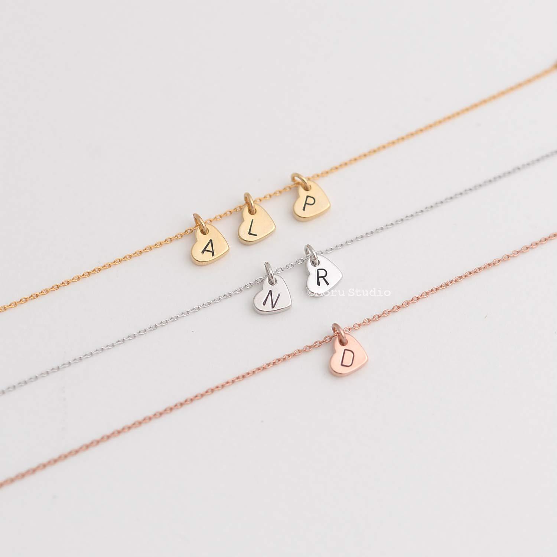 Custom Soldering Initial Heart Bracelet Sale Special Price Letter Stamped Hear Hand