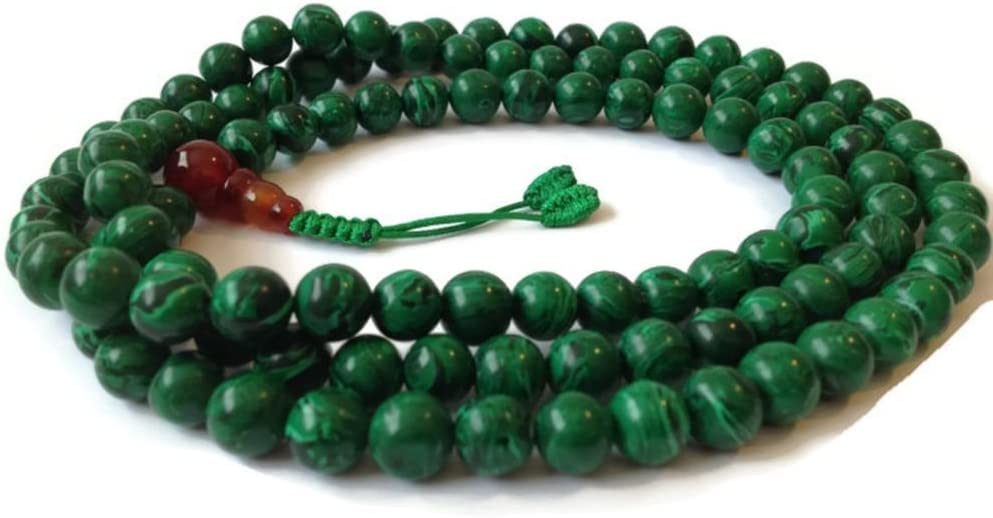 Malachite Japa Mala 108 Beads Max 46% OFF for Ranking TOP5 Full Meditation Necklace