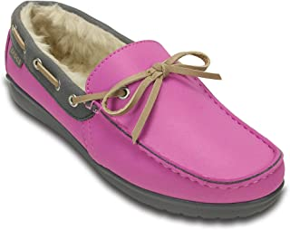 Crocs Wild Orchid & Charcoal Wrap ColorLite Lined Loafer Size W5