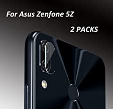 High Definition Ultra Thin Transparent Clear Camera Lens Tempered Glass for Asus Zenfone 5Z Protector Protective Cover-2 Packs