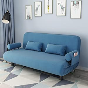 L HPT Sofa Bed Chair Double Seater Mini Non-Slip Waterproof Dog Cover Quilted Corner Sofa Slipcover Pets And Kids Adult Seat Bedroom Furniture  Blue  blue