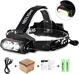 Headlamp Flashlight 8 Lighting Modes COB LED Headlight, USB Rechargeable Waterproof Head Lamp with Red Light,Running Camping Hiking Head Lamp for Adults