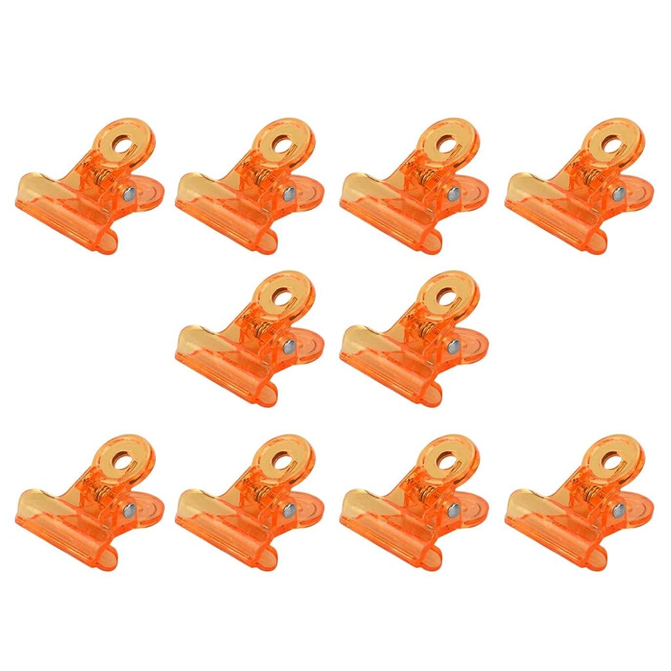 オリエンタル有益注ぎますSM SunniMix アクリル ネイルポリッシュリムーバー クリップ ネイルアート オフクリップ 10個セット 全4色 - オレンジ