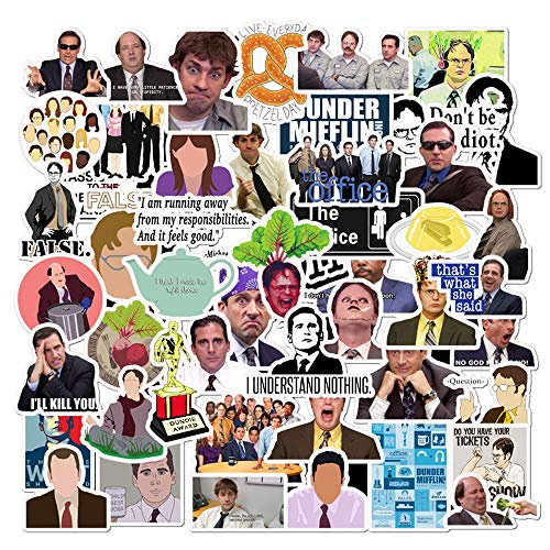 Cheapest Prices! The Office Stickers 50 Pack Decals Office Funny Merchandise Poster Sticker for Lapt...