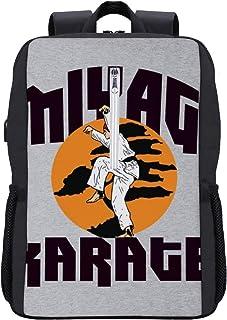 Karate Kid Miyagi Mochila escolar Daypack Librero portátil bolsa escolar con puerto de carga USB