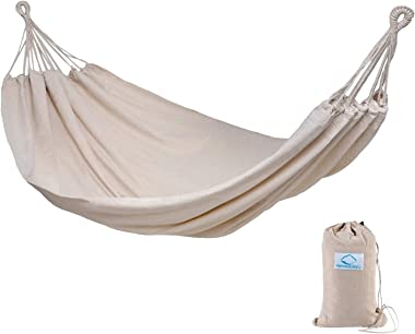 Hammock Sky Brazilian Double Hammock Two Person Bed for Backyard, Porch, Outdoor and Indoor Use - Soft Woven Cotton Fabric (N