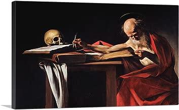 ARTCANVAS Saint Jerome Writing 1606 Canvas Art Print by Caravaggio - 12