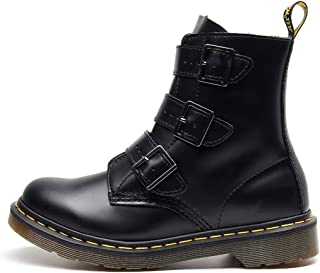 Dr. Martin Unisex Boots Three-buckle locomotive leather boots high-top leather women's boots high-top tooling boots thick wear-resistant boots non-slip wear-resistant ankle boots