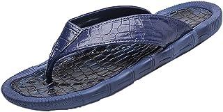 ec9d271f3e8 HOSOME Men s Personality Slippers Casual Flats Durable Flip-Flops Antiskid  Beach Shoes