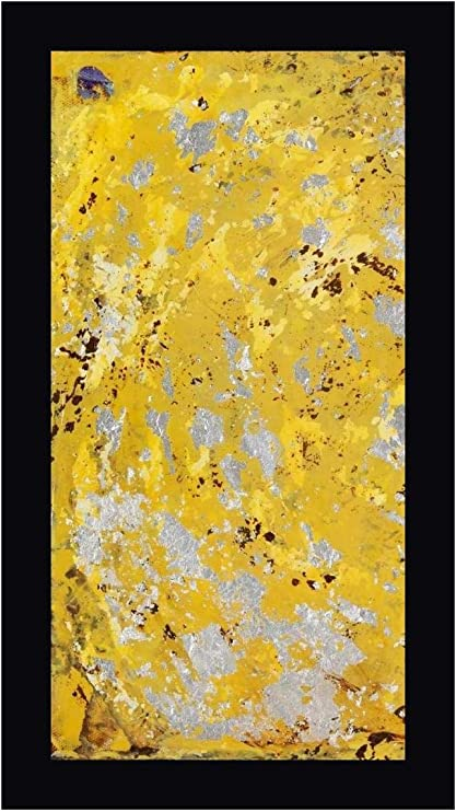 Amazon Com Silvery Yellow I By Natalie Avondet 12 X 24 Gallery Wrapped Canvas Wall Art Print Ready To Hang Posters Prints