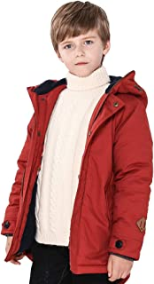 SOLOCOTE Winter Coats for Boys 3-12Y Thick Hooded Lined Jacket
