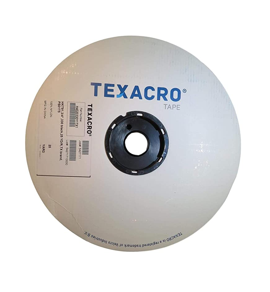 T.R.U. Texacro Hook or Loop Fasteners with Residue Free Adhesive. Available in Multiple Sizes and Colors (Hook-Black, 1