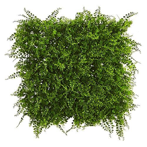 "Nearly Natural Lush Mediterranean Artificial Fern Wall Panel, 20"" x 20"""