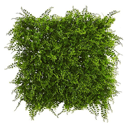 "Nearly Natural Lush Mediterranean Artificial Fern Wall Panel, 20"" x 20"""