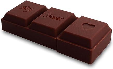818-Shop No1180007Penna USB a forma di barretta di cioccolato, per la persona amata, 3D, marrone marrone marrone 128 GB - Trova i prezzi più bassi