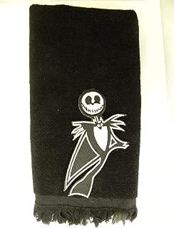 Jack Skellington hand towel black vintage applique nightmare before christmas