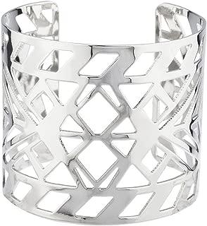 Aztec Style Geo Cutout Bracelet Cuff