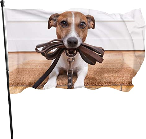 LICIFUF Dogs Jack Russell Terrier AnimalsFashionable and Durable Outdoor Indoor Home Decoration Flag, 100% Polyester Fiber Decoration Garden Decoration Flag 3x5ft-