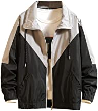Windbreaker Fashion Men's White Cardigan Autumn Winter Solid Casual Long Sleeve Jacket Coat