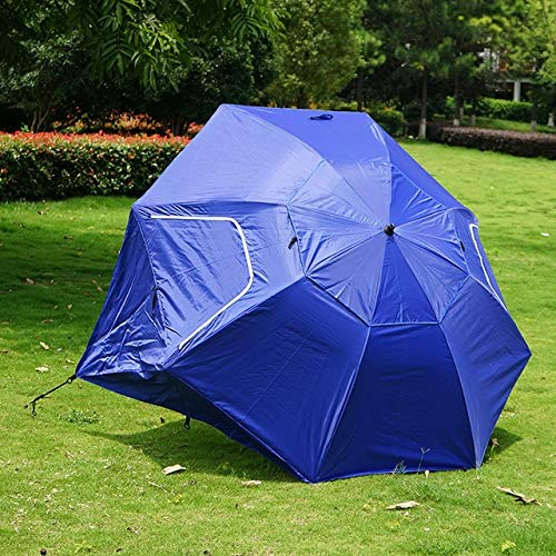 Mdsfe Outdoor Camping Fishing Hiking Umbrella Portable Sun Shelter Beach Tent Summer Easy Setup Awning Shade Anti-UV Canopy HW188-blue