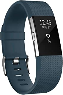 for Fitbit Charge 2 Band, Large Size Silicone Adjustable Replacement Wrist Strap for Fitbit Charge 2