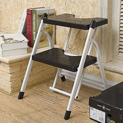 Taburete plegable fino robusto Taburete de pasos de doble propósito para casas...