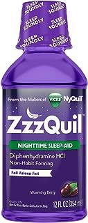 Vicks ZzzQuil Nighttime Sleep Aid Liquid by Vicks, Warming Berry Flavor, 12 Fl Oz