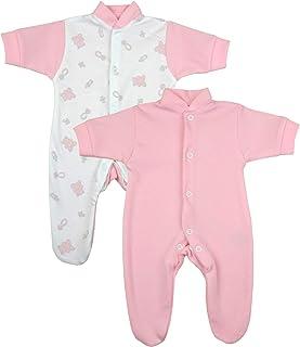 Babyprem Frühchen Baby 2 Schlafanzüge Strampler Frühgeborene Kleidung Mädchen Teddy 0-50cm