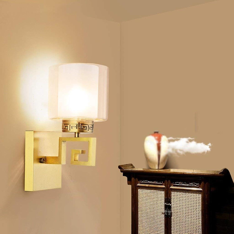 LQB Wandleuchte Wandleuchte Wandleuchte Wohnzimmer Lampe Schlafzimmer Nacht Gang Korridor Licht Moderne Einfache Kupfer Wandleuchte B07G7MDXCL | Ausgang  d86839